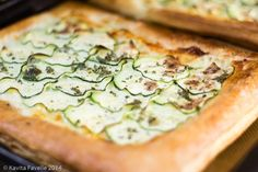 Puff Pastry Cheese Courgette Mint Tart  from KaveyEats