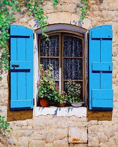 Tuscan Window Canvas Wall Art