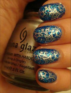 Way cool polish using special stamping technique