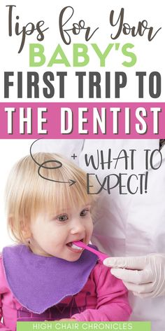 Planning your baby or toddler's first dentist visit? Here are some helpful dentist tips for kids to make sure their first trip is a success and they enjoy going to the dentist. This can be more important than getting those teeth cleaned perfectly! I also share some kids dentist activities to keep them occupied and distracted. Carring for baby and toddler teeth is important and these kids dentist tips will make their first pediatric dentist appointment more enjoyable.