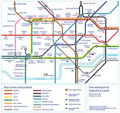 Printable London Tube Map | Printable London Underground Map 2012
