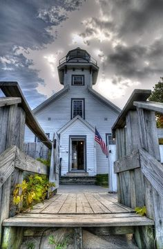 Old Mission Lighthouse on Mission Peninsula in Northern Michigan.