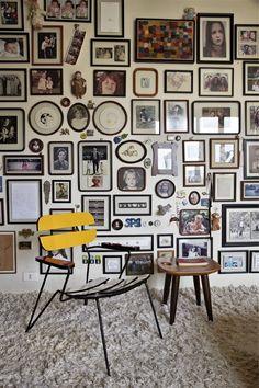 Décor do dia: quadros do piso ao teto