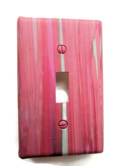 Toggle Switchplate Single Switch Plate with Pink and by marcympc
