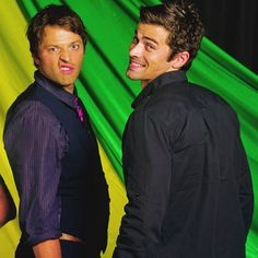 misha collins and matt cohen lol is everyone in this cast hilarious with huge personalities?? apparently this is the case.
