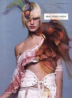 4 _ emma balfour in a balenciaga ad from s/s 2001, made by m/m paris.