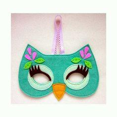 máscara de corujinha