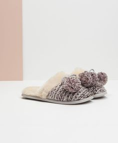 Clog style slippers in soft mixed fabric, null£ - null - Find more trends in women fashion at Oysho . Slippers, Footwear, Salvador, Bedtime, Womens Fashion, Fabric, Accessories, Christmas, Closet