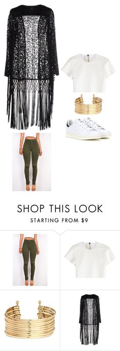 """Outfit Idea by Polyvore Remix"" by polyvore-remix ❤ liked on Polyvore featuring Neil Barrett, H&M, Goldie, adidas, women's clothing, women, female, woman, misses and juniors"