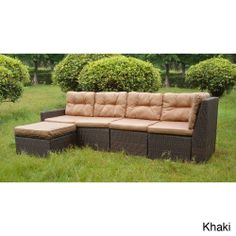 San Sebastian 5-piece Resin Wicker Outdoor Sectional Set | Overstock.com Shopping - Big Discounts on Sofas, Chairs & Sectionals
