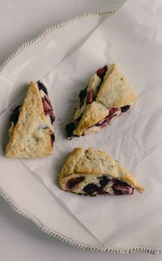 mixed berry scones with crème fraîche and lavender - The Vanilla Bean Blog