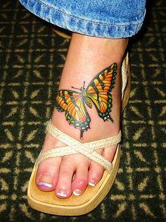 swallowtail butterfly tattoo