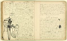 Proust's original notebook of writings and sketches, 1909