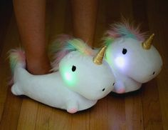These Light-Up Unicorn Slippers Will Never Leave You In The Dark