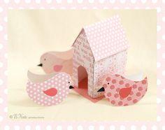 Free Printable Birdies and Birdie House bnute productions: