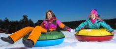 Descenso con flotadores por la nieve.