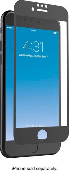 Zagg - InvisibleShield Glass+ Luxe Screen Protector for Apple iPhone 7 and Apple iPhone 8 - Black