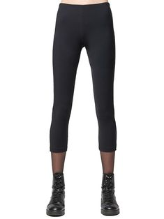 Mid-rise legging with seams has a cropped length for warm weather styling. Mix and match with your layered looks for travel. Made of soft, breathable microfiber in the U.S.A. Boutique Design, Layered Look, Contemporary Fashion, Leggings Are Not Pants, Warm Weather, Summer Outfits, Capri Pants, Black Jeans, San Francisco