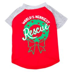 Luv-A-Pet™ World's Merriest Rescue Dog Tee | T-Shirts & Tank Tops | PetSmart