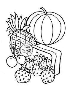 Fruit Basket Coloring Pages craft Pinterest Craft