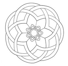 Celtic Knotwork Design Coloring page