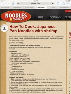 How To Cook: Japanese Pan Noodles with shrimp