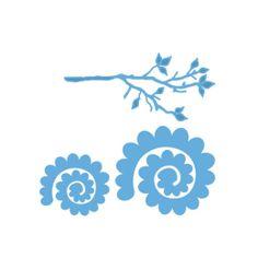 LR0257 Marianne creatables die-branch /& fleur 2