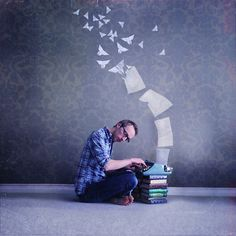 Whimsical visual abstractions of the reading experience by photographic artist Joel Robison.