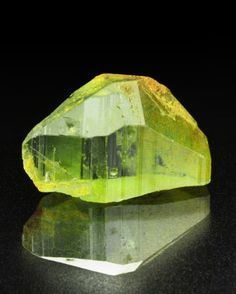Bright surface shine in this clean specimen of Forsterite (Peridot) from St John's Island, Red Sea, Egypt