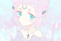 pastel goth anime girl - Google Search