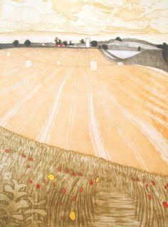 The Harvest, Etching by John Brunsdon £335 unframed