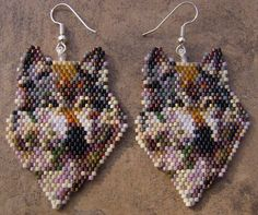 Reserved For Angela Wolf Of Many Colors Earrings Hand by wolflady, $25.00