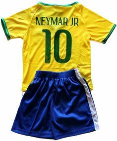 "FWC 2014 Neymar Jr 10 Brazil Brasil Home Futbol Football Soccer Kids Jersey & Short - Ryder asked for ""a soccer Jersey like Davis's"". His favorite color is green. Parker may want one too, tho he has not asked for one yet. His favorite color is red. Kids Soccer, Football Soccer, Comfy Hoodies, Sweatshirts, Neymar Brazil, Thing 1, Neymar Jr, Fifa World Cup, Jersey Shorts"