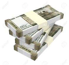 India Rupee Isolated On White Background. Stock Photo, Picture And Royalty Free Image. Money Images, Money Pictures, Gold Money, My Money, Rich Money, Free Iphone Giveaway, Iphone Wallpaper Video, Money Notes, Dollar Money