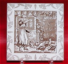 "WEDGWOOD 8"" MONTH TILE AUGUST 1880"