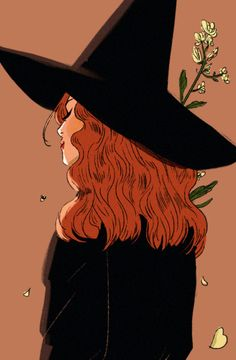 It's almost September which means it's almost our FAVORITE season! We're gonna be bringing that Halloween witchy aesthetic in full force… Character Inspiration, Character Art, Character Design, Autumn Witch, Autumn Girl, Witch Drawing, Drawing Hair, Illustration Art, Illustrations