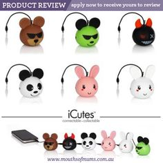 Looking for mums to review.. if you live in Australia and want to apply to receive your to trial and review - enter here http://www.mouthsofmums.com.au/review/icutes-mini-speakers-product-review/