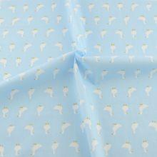 Luz azul de algodão 50 cm x 160 cm de costura caricatura de telas de tecido de sucata patchwork(China (Mainland))