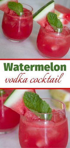 Feb 2020 - If a watermelon vodka cocktail sounds like a refreshing drink to you, you're right! This easy vodka cocktail is perfect for spring parties and gatherings! Make this watermelon vodka drink and your guests will thank you! Watermelon Vodka Drinks, Cucumber Vodka, Easy Drink Recipes, Drinks Alcohol Recipes, Easy Cocktails, Cocktail Recipes, Easy Vodka Drinks, Margarita Recipes, Refreshing Drinks