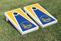 Golden State Warriors Cornhole Bag Toss Wrap Set