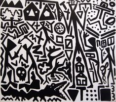 A. R. Penck, System Painting, 2007