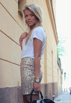 P.S. I Love Fashion by Linda Juhola   sequins with a basic tee