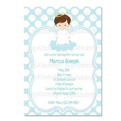 Baby Baptism/Christening Invitations: Printable DIY Infant Baby ...