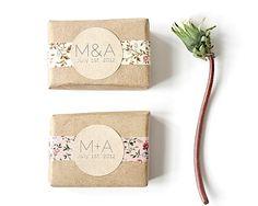 25 Custom Soap Wedding Favors  100 Natural by HerbivoreBotanicals, $60.00