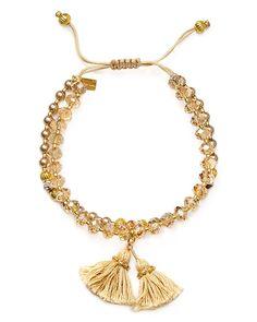 70.00$  Watch here - http://viscr.justgood.pw/vig/item.php?t=5ejs423388 - Chan Luu Swarovski Crystal Beaded Tassel Bracelet