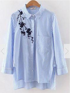 Schöne Idee für ein abgewandeltes Hemd mit weiblichem Charme.