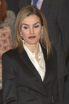 Queen Letizia of Spain Attends A Forum Against Cancer