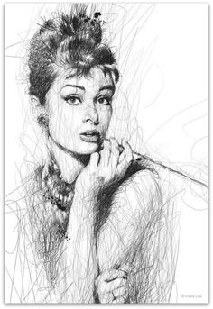 Artist Vince Low has turned once-aimless doodling into Scribble Art, which is an advanced art form of penmanship. Described as Scribbles with life, Vince Low's works are invariably in portrait form. Ink Drawings, Realistic Drawings, Charcoal Drawings, Vince Low, Art Du Monde, Scribble Art, Pencil Drawing Tutorials, Drawing Ideas, Drawing Tips