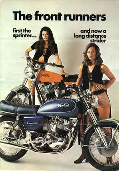 Vintage Norton Commando 750 Motorcycle Ad