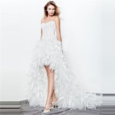 Nouvelle tendance à suivre-Robe de mariée courte devant longue derrière